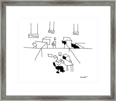 Finance, Sales, Veal Framed Print
