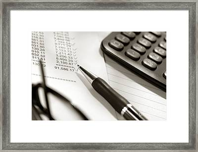Finances  Framed Print by Olivier Le Queinec