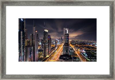 Financial Center Dubai Framed Print