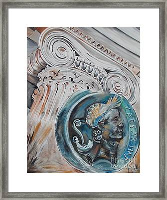 Financial Cliff Framed Print by PainterArtist FIN