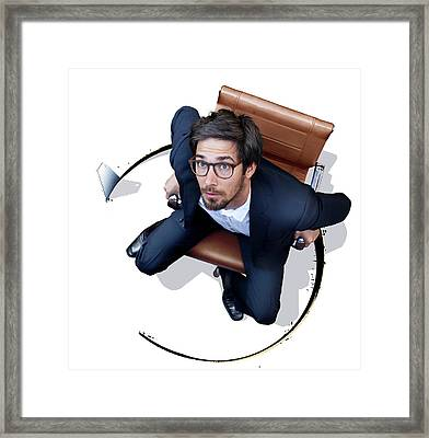 Financial Collapse Framed Print