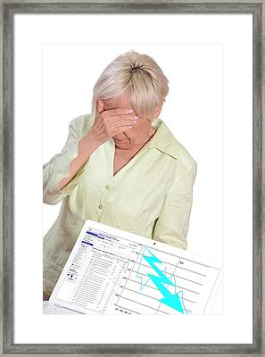 Financial Crisis Framed Print
