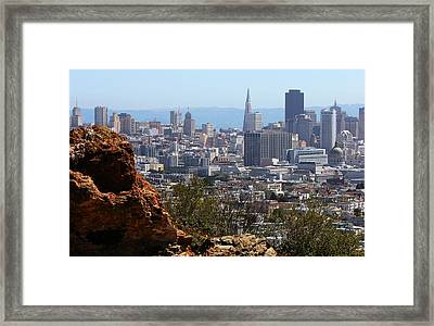 Financial District From Corona Heights Framed Print by Robert Woodward