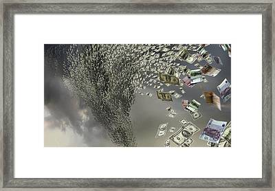 Financial Storm, Conceptual Artwork Framed Print by Science Photo Library
