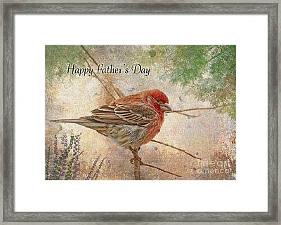 Finch Greeting Card Father's Day Framed Print