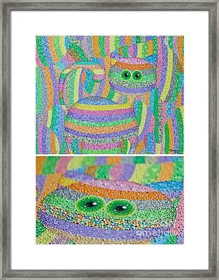 Find A Cat Framed Print by Grass Hopper