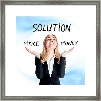 Find Solution Concept Framed Print