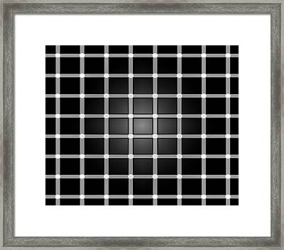 Find The Black Dot  Framed Print by Brian Reaves