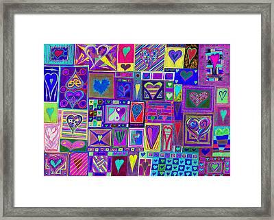 find U'r love found v4  Framed Print by Kenneth James
