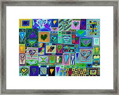 find U'r love found v7 Framed Print by Kenneth James