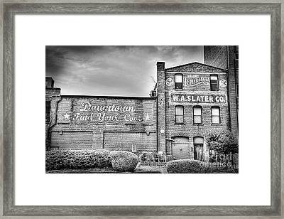 Find Your Coal In Black And White Framed Print