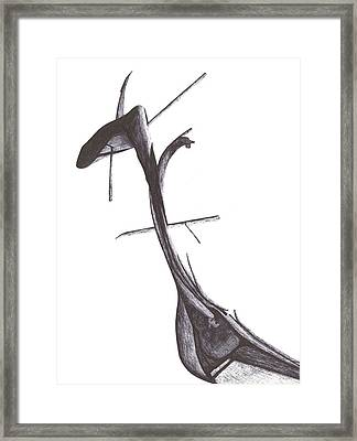 Framed Print featuring the drawing Find Your Way by Giuseppe Epifani