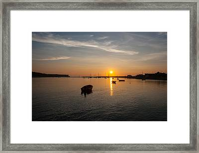 Findhorn Sunset Framed Print