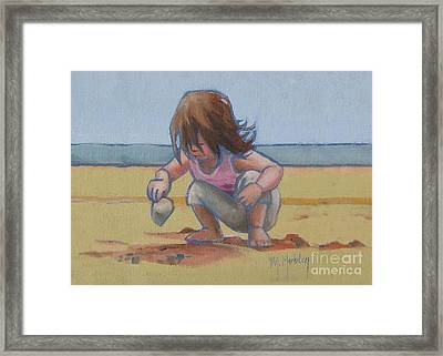 Finding A Shell Framed Print