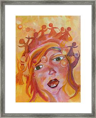Finding A Voice Framed Print by Naomi Gerrard