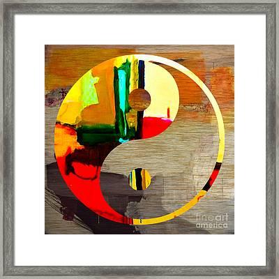 Finding Balance Framed Print