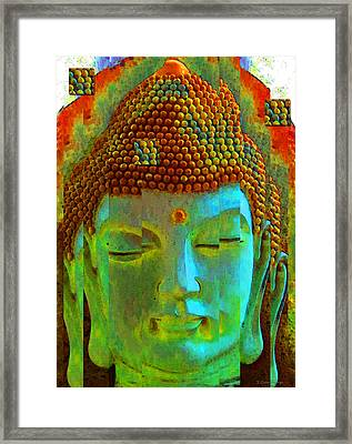 Finding Buddha - Meditation Art By Sharon Cummings Framed Print