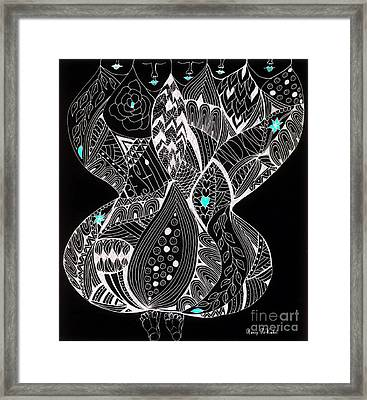 Finding My Soul Framed Print by Nancy TeWinkel Lauren