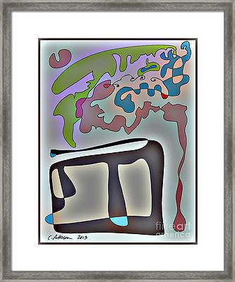 Finding New Ideas While At My Desk.  Framed Print by Cathy Peterson