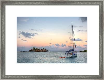 Finding Saba Rock Framed Print by Walt  Baker