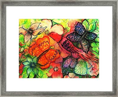 Framed Print featuring the painting Finding Sanctuary by Hazel Holland