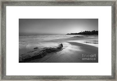 Finding Serenity Bw Framed Print by Michael Ver Sprill