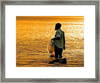 Finding Supper Framed Print