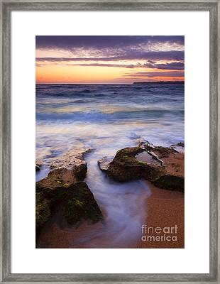 Finding The Cracks Framed Print by Mike  Dawson