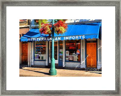 Findlay Market Imports Framed Print by Mel Steinhauer