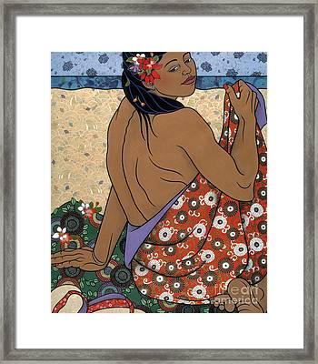 fine art figure painting - Calypso Framed Print