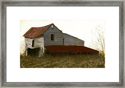 Fine Art Oil Painting North Carolina Barn Framed Print