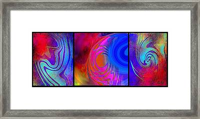 Fine Art Painting Original Digital Abstract Warp 3 Framed Print