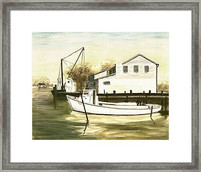 Fine Art Traditional Oil Painting Solomons Island Framed Print