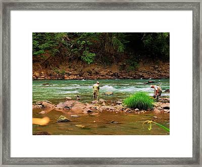 Fine Day For Fishin Framed Print