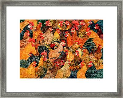 Fine Fowl Framed Print by Ditz