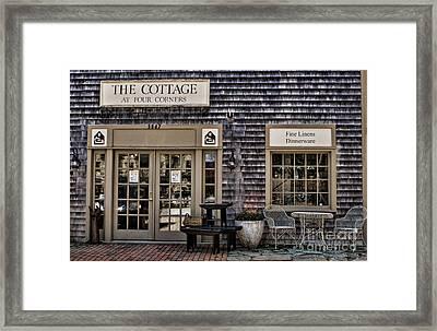 Fine Shopping In Tiverton Framed Print by Nancy De Flon