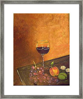 Fine Wine Framed Print
