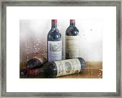 Fine Wine On A Rainy Afternoon Framed Print by Georgia Fowler