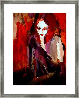 Framed Print featuring the painting Finesse by Helena Wierzbicki