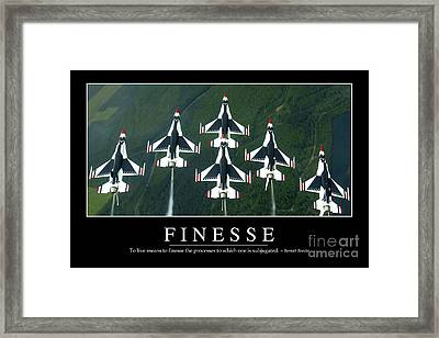 Finesse Inspirational Quote Framed Print by Stocktrek Images