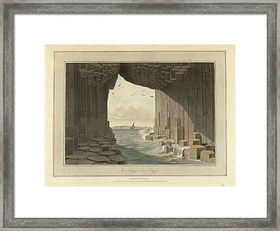 Fingal's Cave Framed Print by British Library