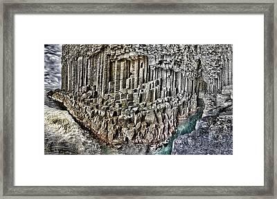 Fingal's Cave Interior Panorama Scotland Framed Print