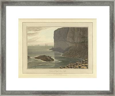 Fingal's Cave On Staffa Framed Print by British Library