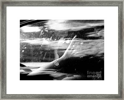 Finger And Watch Framed Print