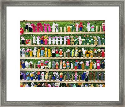 Finger Dolls Framed Print by Kurt Van Wagner