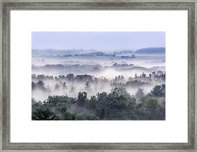 Finger Lakes Morning Framed Print