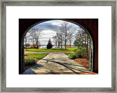 Framed Print featuring the photograph Finger Lakes View From Mackenzie Childs  by Mitchell R Grosky