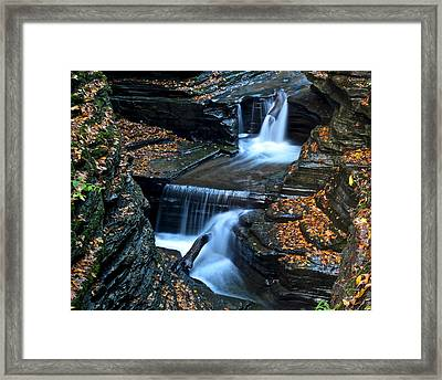 Finger Lakes Waterfalls Framed Print by Frozen in Time Fine Art Photography