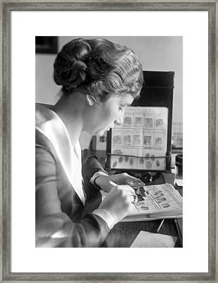 Fingerprint Analysis, 1918 Framed Print