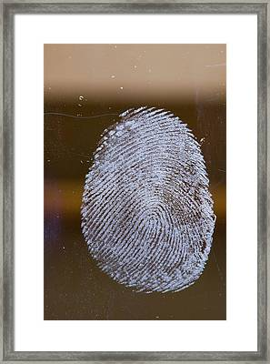 Fingerprint On Glass Framed Print by Ashley Cooper